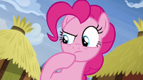 Pinkie Pie thinking for a moment S7E11