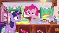Pinkie Pie wiping her tears away S7E23