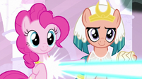 Pinkie and Somnambula helping Stygian S7E26