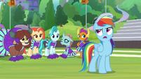 Rainbow rolls her eyes at Twilight S9E15