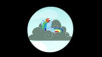 Rainbow seen on a thundercloud S4E21