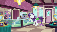 Rarity and Spike in the jewelry store S9E19