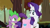 Rarity getting annoyed by Spike's behavior S8E11