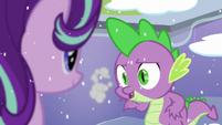 Spike breathes cold S6E2