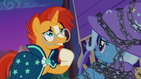 "Sunburst ""hold the chain up long enough"" S7E24"