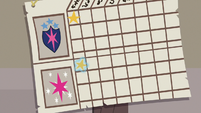 Twilight and Shining Armor's star chart S9E4