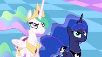 Celestia and Luna unamused S4E02