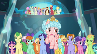 Cozy Glow appears with student mob S8E26