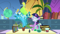 Filly Twilight Sparkle grows a giant flower S7E1