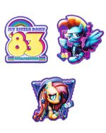 MLP SDCC 2018 enamel pin pack by Rockie Davies