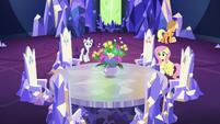 Rarity placing flowerpot on Cutie Map S5E19