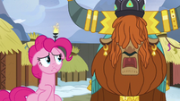 Rutherford -yak horn too heavy for small pony head- S7E11
