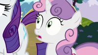 Sweetie Belle shocked by Rarity's obliviousness S7E6