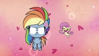 Tiny Fluttershy proud of Rainbow Dash PLS1E2b