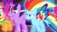 Twilight and Rainbow in Rainbow Power forms S5E13