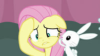 Fluttershy trying to think of an answer S9E16