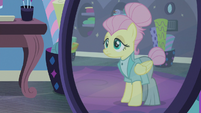 Fluttershy wearing her new outfit S8E4