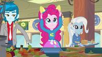 Pinkie Pie putting on ears EG
