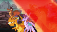 Red magical wave makes the dragons stop glowing S6E5