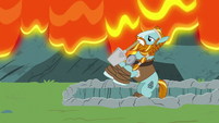 Rockhoof wielding his shovel S7E16