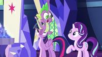 """Spike panicking """"I know!"""" S7E15"""