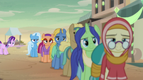 Trixie waiting in a long line S8E19