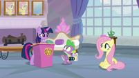 Twilight Sparkle congratulating Fluttershy S8E9