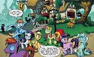 Backround pony crop comic issue 1
