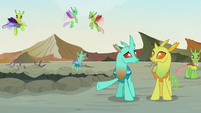 Changeling 2 gestures at the battlefield S7E17