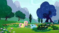 Fluttershy asks if her cheering was too loud S01E16