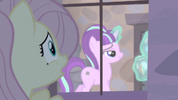 Fluttershy sees Starlight levitating container holding the cutie marks S5E02