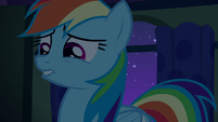 Rainbow Dash looking creeped out S6E15