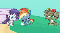 Rainbow Dash takes a calming breath PLS1E2b