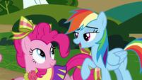 Rainbow Dash talking S4E10