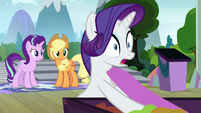 "Rarity ""Celestia's going to be in our play"" S8E7"