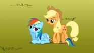 S01E13 Applejack stoi na ogonie Rainbow Dash