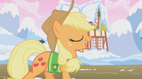 Applejack singing Winter Wrap Up song S1E11