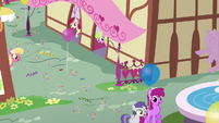 Daisy, Lily, and Rose in Ponyville S4E12