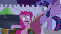 """Pinkie Pie answers nervously """"yes!"""" S9E17"""