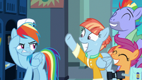Rainbow Dash even more annoyed at her parents S7E7