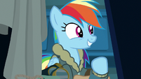 Rainbow Dash excited to see her friends S6E24