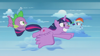 Rainbow Dash nervously saying hello S5E25