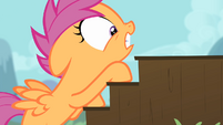 Scootaloo climbing up stairs S4E05