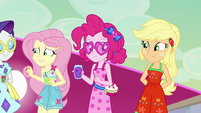 Fluttershy, Pinkie, and AJ agree with Sunset EGSB