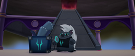 Grubber appears with a loudspeaker MLPTM