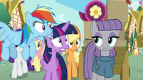 Main ponies shocked by Maud's words S8E18