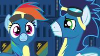 Rainbow Dash hears Spitfire's voice S6E7