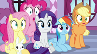 Rarity and friends in complete shock S9E7