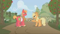 S01E04 Big Mac i Applejack na tle sadu