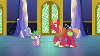 Spike and Big Mac hear fanfare S6E17